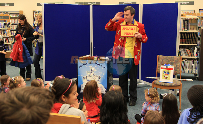 Martin the Magician gives a great performance in the Drogheda Library..Picture: Shane Maguire / www.newsfile.ie