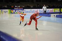 SCHAATSEN: HEERENVEEN: 26-12-2013, IJsstadion Thialf, KNSB Kwalificatie Toernooi (KKT), 1000m, Antoinette de Jong, Margot Boer, ©foto Martin de Jong