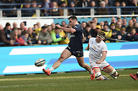 11th January 2020, Parc des Sports Marcel Michelin, Clermont-Ferrand, Auvergne-Rhône-Alpes, France; European Champions Cup Rugby Union, ASM Clermont versus Ulster;  Damian Penaud (asm)  kicks forward