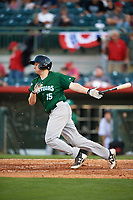 Daytona Tortugas first baseman Gavin LaValley (15) at bat during a game against the Florida Fire Frogs on April 6, 2017 at Osceola County Stadium in Kissimmee, Florida.  Daytona defeated Florida 3-1.  (Mike Janes/Four Seam Images)