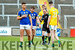 Eánna Ó Conchúir Kerry receives a red card from referee against  Meath in the All Ireland Junior Football Final at O'Moore Park, Portlaoise on Saturday.