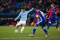 Manchester City's Danilo has a shot at goal <br /> <br /> Photographer Craig Mercer/CameraSport<br /> <br /> UEFA Champions League Round of 16 First Leg - Basel v Manchester City - Tuesday 13th February 2018 - St Jakob-Park - Basel<br />  <br /> World Copyright &copy; 2018 CameraSport. All rights reserved. 43 Linden Ave. Countesthorpe. Leicester. England. LE8 5PG - Tel: +44 (0) 116 277 4147 - admin@camerasport.com - www.camerasport.com