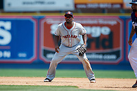 Portland Sea Dogs first baseman Josh Ockimey (29) during the first game of a doubleheader against the Reading Fightin Phils on May 15, 2018 at FirstEnergy Stadium in Reading, Pennsylvania.  Portland defeated Reading 8-4.  (Mike Janes/Four Seam Images)