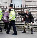 Demo march central london anarchists..Anarchists spray policeman..pic by Gavin Rodgers/ Pixel 8000.07917221968