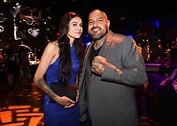"""LOS ANGELES - AUGUST 27: Vanessa Giselle and Vincent Rocco Vargas attends the post party at Sunset Room Hollywood following the season two red carpet premiere of FX's """"Mayans M.C"""" on August 27, 2019 in Los Angeles, California. (Photo by Frank Micelotta/FX/PictureGroup)"""