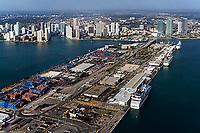 aerial photograph Dodge Island Port of Miami Biscayne Bay Florida