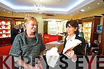 Abina Laide of Hilsers Jewellers Tralee on right showing some of the range of necklaces to Bernie Sommers.