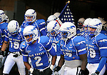 October 10, 2009:  The Air Force Academy Falcons prepare to take the field on a very cold night prior the Falcons 20-17 loss to 10th ranked TCU at Falcon Stadium, U.S. Air Force Academy, Colorado Springs, CO.