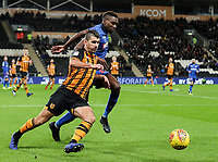 Bolton Wanderers' Sammy Ameobi competing with Hull City's Eric Lichaj<br /> <br /> Photographer Andrew Kearns/CameraSport<br /> <br /> The EFL Sky Bet Championship - Hull City v Bolton Wanderers - Tuesday 1st January 2019 - KC Stadium - Hull<br /> <br /> World Copyright © 2019 CameraSport. All rights reserved. 43 Linden Ave. Countesthorpe. Leicester. England. LE8 5PG - Tel: +44 (0) 116 277 4147 - admin@camerasport.com - www.camerasport.com