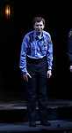 "Michael Cera taking his first performance curtain call bow for ""Lobby Hero"", marking Evans' Broadway debut and the inaugural performance at Second Stage's Hayes Theater on March 1, 2018 at The Hayes Theatre in New York City."