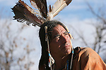 A Native American Indian man portrait