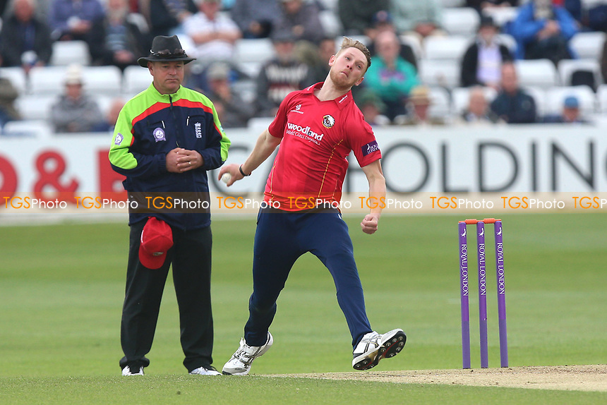 Jamie Porter in bowling action for Essex during Essex Eagles vs Middlesex, Royal London One-Day Cup Cricket at The Cloudfm County Ground on 12th May 2017