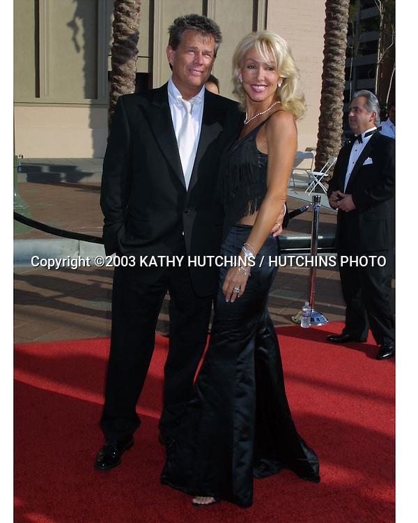 ©2003 KATHY HUTCHINS / HUTCHINS PHOTO.Primtime Creative Emmy Awards .Shrine Auditorium.September 13, 2003..DAVID FOSTER.LINDA THOMPSON