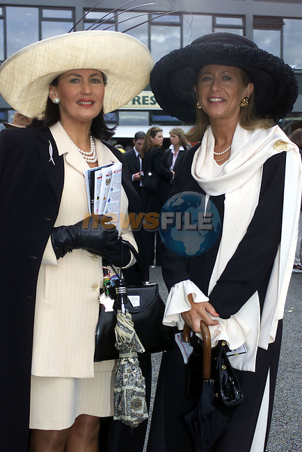 Faith Amond from Milford Co Carlow and Liz Maher from Bagnelstown Co Carlow at the Grand National in Fairyhouse..Pic Fran Caffrey Newsfile..Camera:   DCS620C.Serial #: K620C-01974.Width:    1152.Height:   1728.Date:  24/4/00.Time:   14:12:26.DCS6XX Image.FW Ver:   3.0.9.TIFF Image.Look:   Product.Antialiasing Filter:  Removed.Tagged.Counter:    [3711].Shutter:  1/250.Aperture:  f5.0.ISO Speed:  400.Max Aperture:  f2.8.Min Aperture:  f22.Focal Length:  38.Exposure Mode:  Manual (M).Meter Mode:  Color Matrix.Drive Mode:  Continuous High (CH).Focus Mode:  Single (AF-S).Focus Point:  Center.Flash Mode:  Normal Sync.Compensation:  +0.0.Flash Compensation:  +0.0.Self Timer Time:  5s.White balance: Custom.Time: 14:12:26.445.
