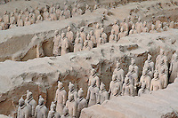 Museum of Qin Terra Cotta Warriors and Horses, considered to be the most significant archaeological excavations of the 20th century, Xian, Lintong County, Shaanxi Province, China