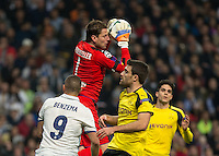 Weidenfeller, goalkeeper of Borussia Dortmund in action during the UEFA Champions League match between Real Madrid and Borussia Dortmund at the Santiago Bernabeu Stadium in Madrid, Tuesday, December 7, 2016.