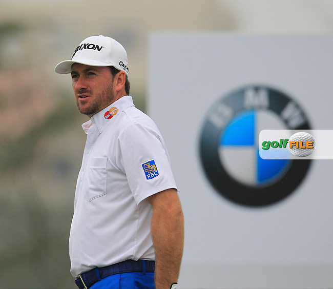Graeme McDowell (NIR) on the 6th tee during Saturay's Round 3 of the 2014 BMW Masters held at Lake Malaren, Shanghai, China. 1st November 2014.<br /> Picture: Eoin Clarke www.golffile.ie