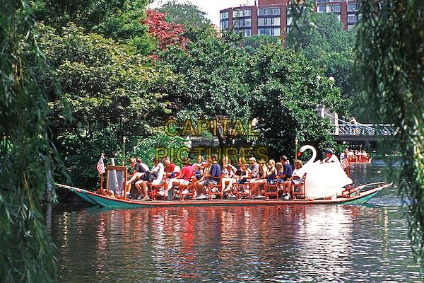 Swan boat, Boston Public Garden, Boston, Massachusetts, New England, USA