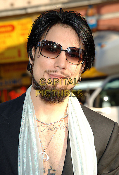 "DAVE NAVARRO.""Batman Begins"" Los Angeles Premiere held at Grauman's Chinese Theatre, Hollywood, CA.June 6th, 2005.Photo credit: Jacqui Wong/AdMedia.headhsot portrait sunglasses shades scarf tattoos beard facial hair.www.capitalpictures.com.sales@capitalpictures.com.© Capital Pictures."