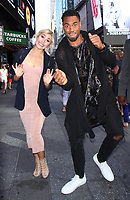 Emma Slater and Rashad Jennings at Good Morning America