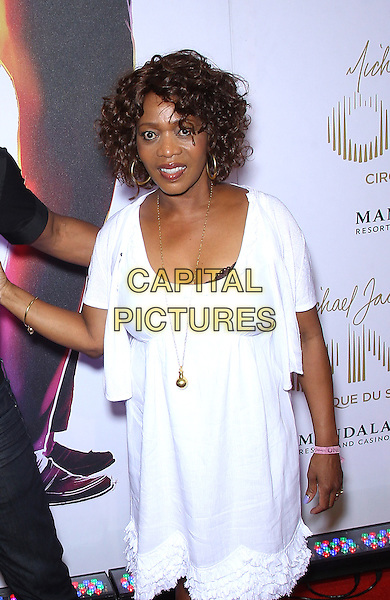 Alfre Woodard<br /> &quot;Michael Jackson One&quot; world premiere at Mandalay Bay Resort and Casino, Las Vegas, NV, USA, 29th April 2013.<br /> half length white dress <br /> CAP/ADM/MJT<br /> &copy; MJT/AdMedia/Capital Pictures