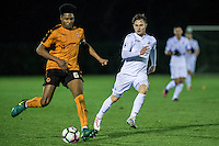 Friday  16 December 2014<br /> Pictured:  Cameron John  Wolverhampton Wonderers in action <br /> Re: Swansea City U18s v Wolverhampton Wonderers U18s, 3rd Round FA youth Cup Match at the Landore Training Facility, Swansea, Wales, UK