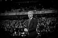 Arsenal Manager Arsene Wenger ahead the Premier League match between West Ham United and Arsenal at the Olympic Park, London, England on 13 December 2017. Photo by Andy Rowland.