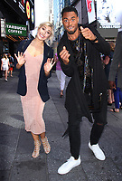 NEW YORK, NY - JUNE 26: Emma Slater and Rashad Jennings seen at Good Morning America in New York City on June 26 , 2017. Credit: RW/MediaPunch