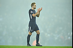 Harry Kane of Tottenham Hotspur thanks the fans at the end of the premier league match at the Etihad Stadium, Manchester. Picture date 16th December 2017. Picture credit should read: Robin ParkerSportimage