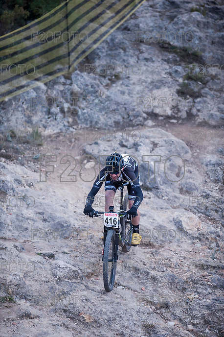 Chelva, SPAIN - MARCH 6: Jose Antonio Ruiz during Spanish Open BTT XCO on March 6, 2016 in Chelva, Spain