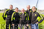 Dr Crokes Management team Niall O'Callaghan, Harry O'Neill, Eddie O'Sullivan, Mike Buckley and Pat O'Shea ManagerPat O'Shea at Fitzgerald Stadium on Sunday.