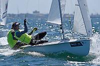 470 / Mathew BELCHER - William RYAN (AUS)<br /> ISAF Sailing World Cup Final - Melbourne<br /> St Kilda sailing precinct, Victoria<br /> Port Phillip Bay Tuesday 6 Dec 2016<br /> &copy; Sport the library / Jeff Crow