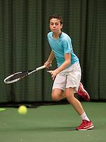 March 15, 2015, Netherlands, Rotterdam, TC Victoria, NOJK, Rik Muller (NED)<br /> Photo: Tennisimages/Henk Koster