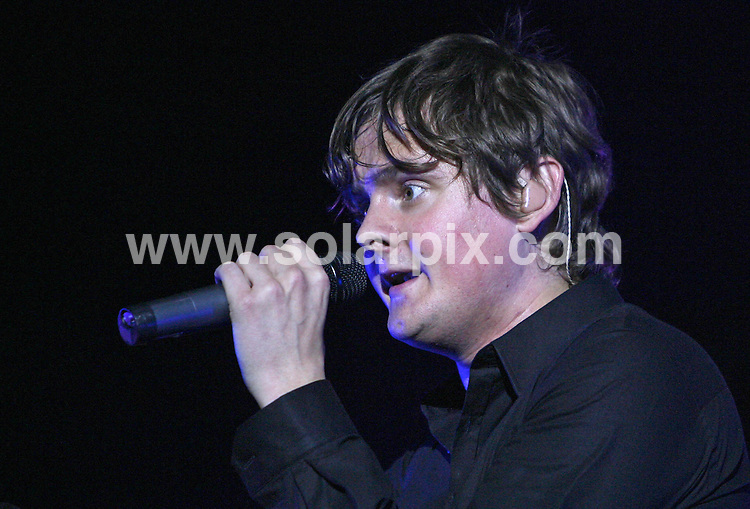 **ALL ROUND PICTURES FROM SOLARPIX.COM**.**WORLDWIDE SYNDICATION RIGHTS**.Keane perform at the O2 Arena, Greenwich Peninsula. 21_07_2007. The show was being recorded for a forthcoming  DVD release by the band...This pic: Tom Chaplin..JOB REF:  4354     SSD     DATE: 21_07_2007.**MUST CREDIT SOLARPIX.COM OR DOUBLE FEE WILL BE CHARGED* *UNDER NO CIRCUMSTANCES IS THIS IMAGE TO BE REPRODUCED FOR ANY ONLINE EDITION WITHOUT PRIOR PERMISSION*