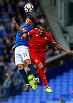 Everton's Kevin Mirallas (L) in action with Sevilla's Ever Banega during the pre season friendly match at Goodison Park Stadium, Liverpool. Picture date 6th August 2017. Picture credit should read: Paul Thomas/Sportimage