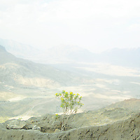 Areal view for Wadi Mistal at wilayat of Nakhal at South Al Batinah governate, Oman.