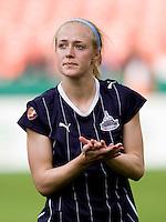 Becky Sauerbrunn. The Washington Freedom defeated the Saint Louis Athletica, 3-1.