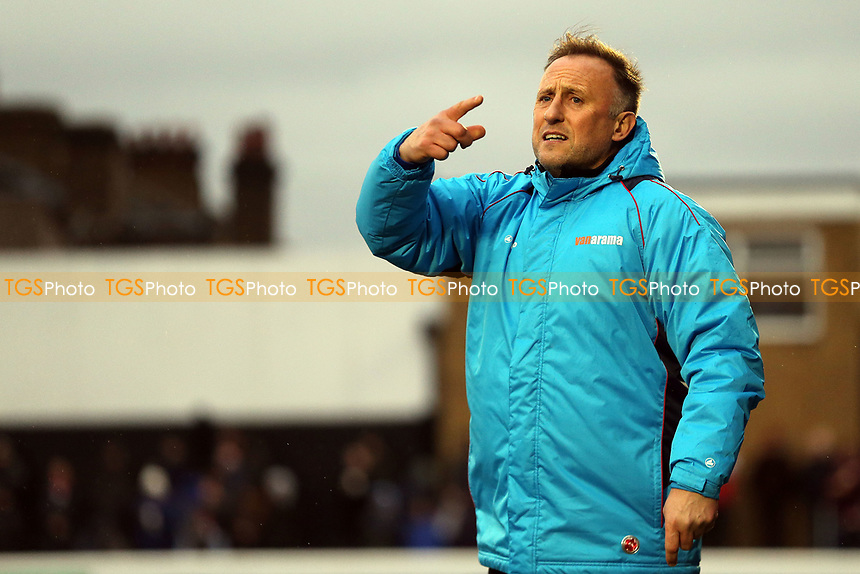 Solihull Moors manager Mark Yates during Dagenham & Redbridge vs Solihull Moors, Vanarama National League Football at the Chigwell Construction Stadium on 27th January 2018