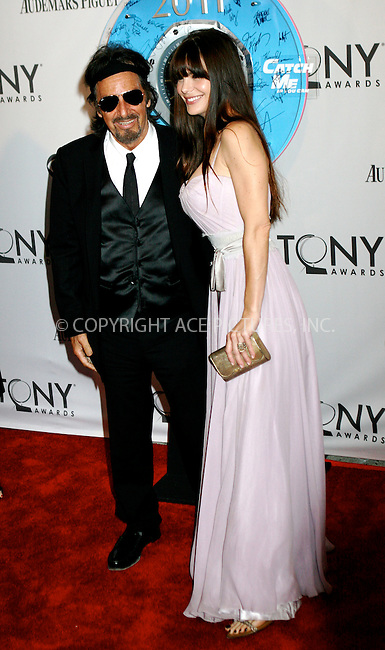 WWW.ACEPIXS.COM . . . . .  ....June 12 2011, New York City....Al Pacino and Lucila Polak arriving at the 65th Annual Tony Awards at the Beacon Theatre on June 12, 2011 in New York City.....Please byline: NANCY RIVERA- ACEPIXS.COM.... *** ***..Ace Pictures, Inc:  ..Tel: 646 769 0430..e-mail: info@acepixs.com..web: http://www.acepixs.com