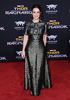10 October  2017 - Hollywood, California - Elizabeth Henstridge. World Premiere of &quot;Thor: Ragnarok&quot; held at The El Capitan Theater in Hollywood. <br /> CAP/ADM/BT<br /> &copy;BT/ADM/Capital Pictures