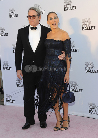 NEW YORK, NY - SEPTEMBER 28: Matthew Broderick and Sarah Jessica Parker attend the New York City Ballet's 2017 Fall Fashion gala at David H. Koch Theater at Lincoln Center on September 28, 2017 in New York City.  Photo Credit: John Palmer/MediaPunch