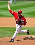 23 August 2009: Washington Nationals' starting pitcher Craig Stammen on the mound against the Milwaukee Brewers at Nationals Park in Washington, DC. The Nationals defeated the Brewers 8-3 in the third game of their four-game series, snapping a five games losing streak. Mandatory Credit: Ed Wolfstein Photo