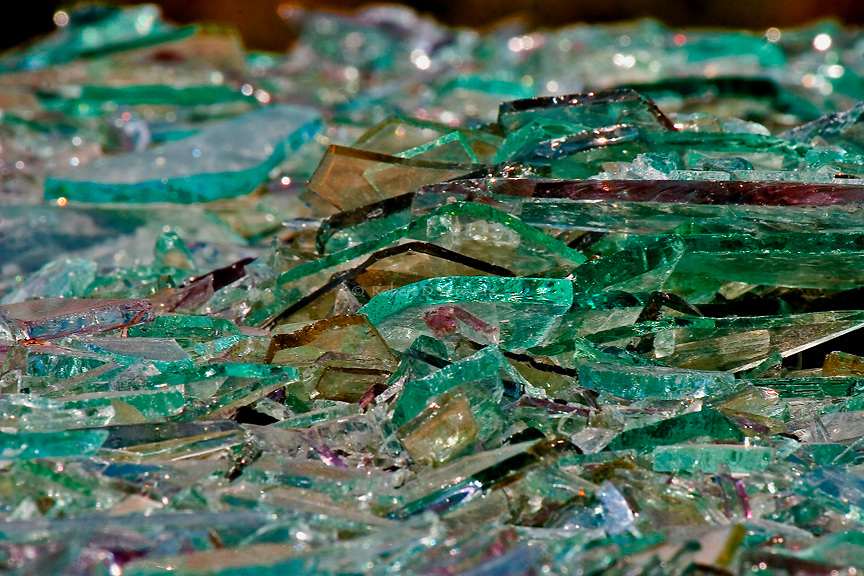 Recycled - Glass along the Mon