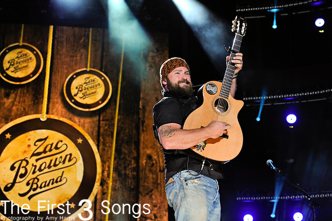 Zac Brown of the Zac Brown Band performs at LP Field during the 2012 CMA Music Festival on June 07, 2011 in Nashville, Tennessee.