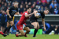 Chris Cook of Bath Rugby takes on the Toulouse defence. Heineken Champions Cup match, between Stade Toulousain and Bath Rugby on January 20, 2019 at the Stade Ernest Wallon in Toulouse, France. Photo by: Patrick Khachfe / Onside Images