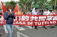 - Milano 20 maggio 2017, manifestazione &quot;Insieme senza muri&quot; per l'accoglienza e l'integrazione dei popoli migranti; rappresentanza della comunit&agrave; Cinese<br />