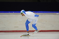 SCHAATSEN: HEERENVEEN: 05-10-2013, IJsstadion Thialf, Trainingwedstrijd, 5000m, Crispijn Ariëns, ©foto Martin de Jong