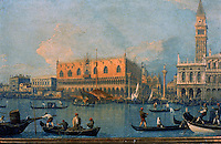 Italy: Venice. Painting of Palazzo Ducale by Canaletto.<br />