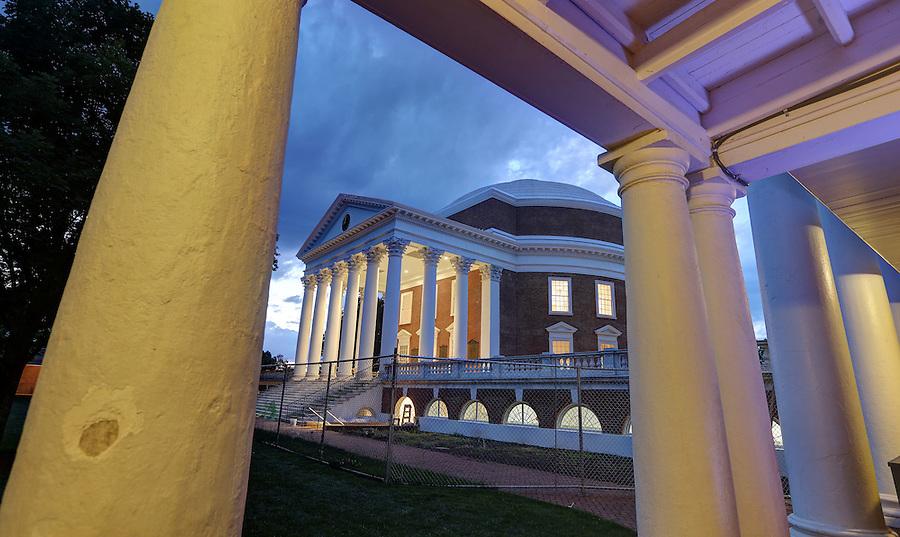 The newly renovated Rotunda at the University of Virginia in Charlottesville, Va. Photo/Andrew Shurtleff