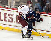Michael Campoli (BC - 6), Corey Ronan (UConn - 11) - The Boston College Eagles defeated the visiting UConn Huskies 2-1 on Tuesday, January 24, 2017, at Kelley Rink in Conte Forum in Chestnut Hill, Massachusetts.